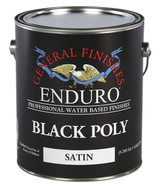 General Finishes Satin Enduro Pigmented Black Poly, Gallon