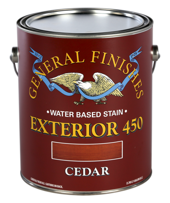 General Finishes Cedar Water Based Wood Stain Exterior 450, Gallon