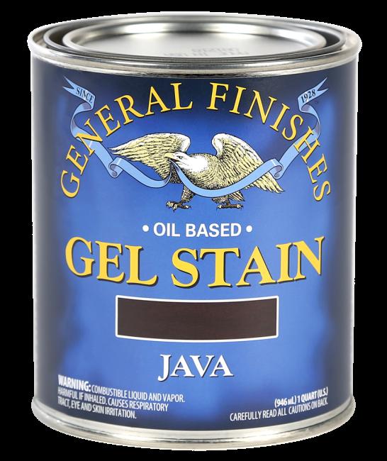 General Finishes Java Oil Based Gel Stain Quart