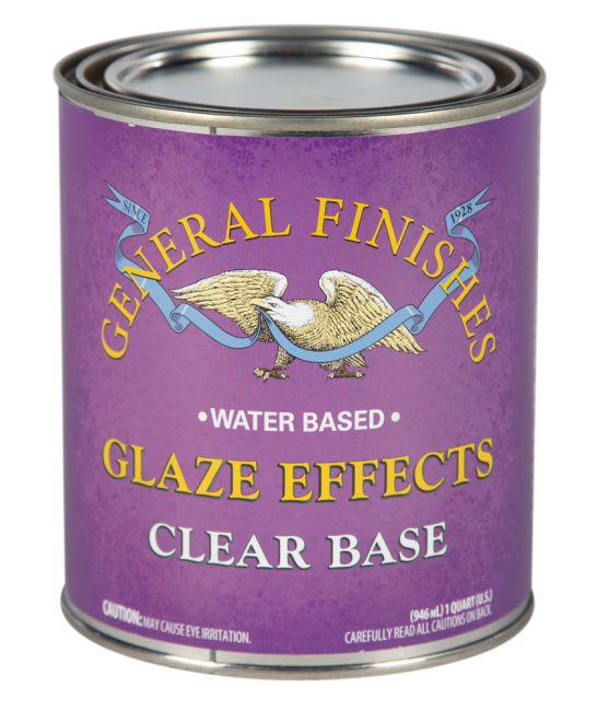 General Finishes Clear Base Glaze Effects, Quart