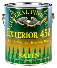 General Finishes Satin Exterior 450 Water Based Topcoat, Gallon