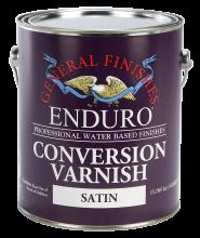 General Finishes Satin Water Based Topcoat Enduro Conversion Varnish, Gallon