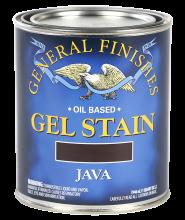 General Finishes Java Oil Based Gel Stain, Quart