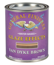 General Finishes Van Dyke Brown Glaze Effects, Quart
