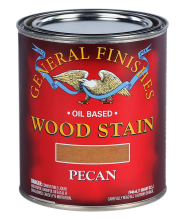 General Finishes Liquid Oil Based Wood Stain, Pecan, Quart