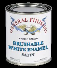 General Finishes Water Based Brushable White Enamel Satin, Quart