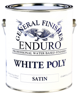 General Finishes Satin Enduro Pigmented White Poly, Gallon