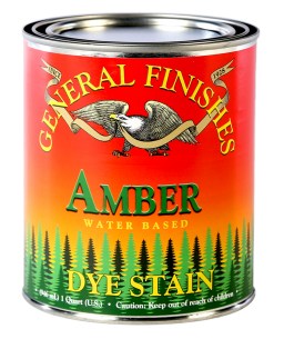 General Finishes Amber Water Based Dye Stain, Quart