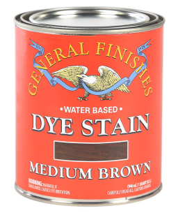 General Finishes Medium Brown Water Based Dye Stain, Quart