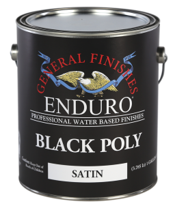 General Finishes Satin Water Based Pigmented Topcoat Enduro Black Poly, Gallon