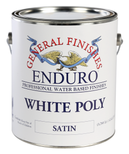 General Finishes Water Based Pigmented Topcoat Enduro White Poly, Gallon, Satin