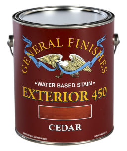 General Finishes Cedar Exterior 450 Water Based Wood Stain, Gallon