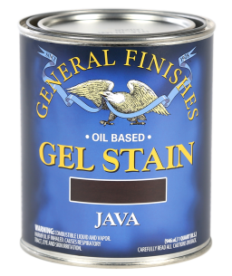General Finishes Java Oil Based Gel Stain, Quart
