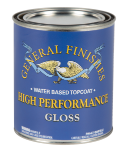 General Finishes Satin High Performance Water Based Topcoat, Quart